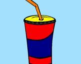 Disegno Bicchierone di frullato  pitturato su bea e manu