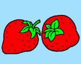 Disegno fragole  pitturato su bea e manu