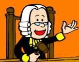 Disegno Giudice pitturato su mat