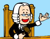 Disegno Giudice pitturato su SILVIA