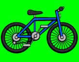 Disegno Bicicletta pitturato su matteo  mio