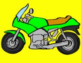 Disegno Motocicletta  pitturato su matteo  mio