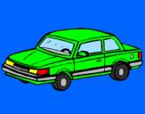 Disegno Automobile classico  pitturato su matteo  mio