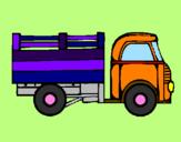 Disegno Camioncino  pitturato su martina 07