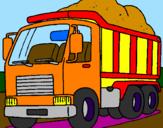 Disegno Camion da carico  pitturato su Cristian