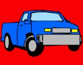 Disegno Camioncino  pitturato su matteo  mio