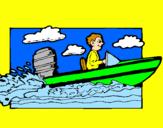 Disegno Acquatico barca pitturato su matteo  mio