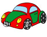 Disegno Auto giocattolo  pitturato su macchina