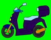 Disegno Ciclomotore pitturato su veronica
