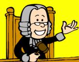 Disegno Giudice pitturato su gionata