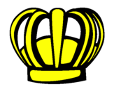 Disegno Corona pitturato su eli