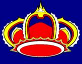 Disegno Corona pitturato su aika