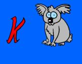 Disegno Koala  pitturato su Sara Ferraro
