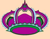 Disegno Corona pitturato su GUALTIERO/TEODOLINDO