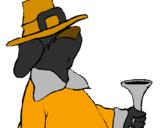 Disegno Pellegrino maldestro  pitturato su raisa