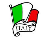 Disegno Bandiera d'Italia pitturato su beyes