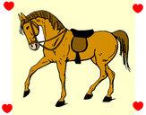 Disegno Cavallo da competizione pitturato su frary
