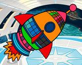 Disegno Razzo di spazio pitturato su fulvia