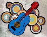 Disegno Chitarra acustiche pitturato su 22st