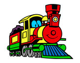 Disegno Treno divertimento pitturato su massi2004