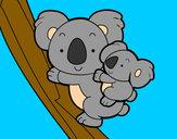 Disegno Madre koala pitturato su Love1D