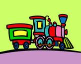 Disegno Treno con vagone pitturato su annaballer