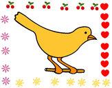 Disegno Uccello 4 pitturato su CatignaniB