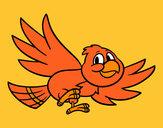 Disegno Uccello che vola pitturato su Faby
