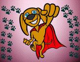 Disegno Super-cane pitturato su Enya