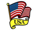 Disegno Bandiera degli Stati Uniti pitturato su marigenny