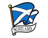 Disegno Bandiera della Scozia pitturato su marigenny