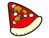 Disegno Fetta di pizza pitturato su marigenny