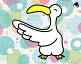 Disegno Gabbiano felice pitturato su lau452000