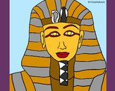 Disegno Tutankamon pitturato su WalViolet