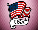 Disegno Bandiera degli Stati Uniti pitturato su Ale1423
