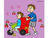 Disegno Triciclo pitturato su Ilariaoff