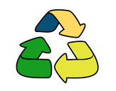 Disegno Materiali riciclabili pitturato su pietroc
