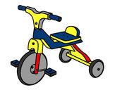Disegno Triciclo di bambino pitturato su deboragall