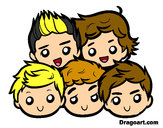 Disegno One Direction 2 pitturato su 1Direction