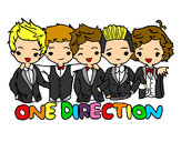 Disegno One direction pitturato su 1Direction