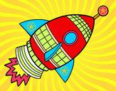 Disegno Razzo di spazio pitturato su marcocatan