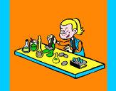 Disegno Tecnico di laboratorio  pitturato su supermatti