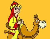 Disegno Melchiorre a cammello pitturato su Bellezza