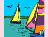 Disegno Vele in alto mare  pitturato su lolorenzo
