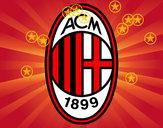 Disegno Stemma del AC Milan pitturato su coretto