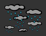 Disegno Piovoso pitturato su glorialaur