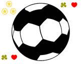 Disegno Pallone da calcio II pitturato su 22st