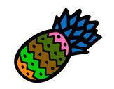 Disegno Ananas tropicale pitturato su carminejr