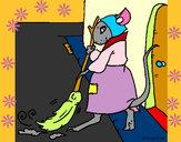 Disegno La topolina civettuola 1 pitturato su mariasofia
