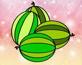 Disegno Meloni pitturato su ale04
